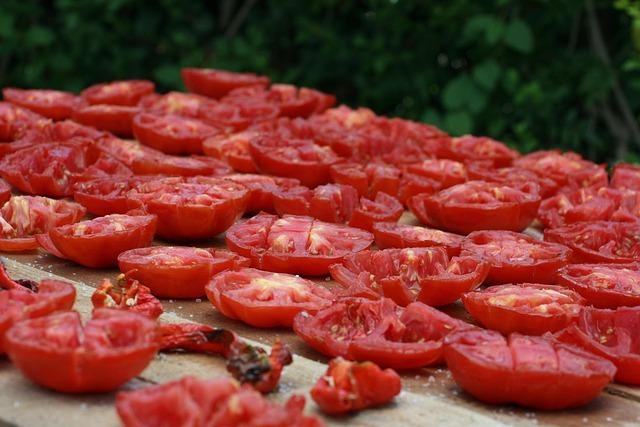 suszone warzywa - pomidory